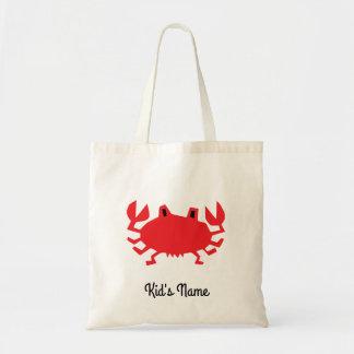 Rood van zeekrab draagtas