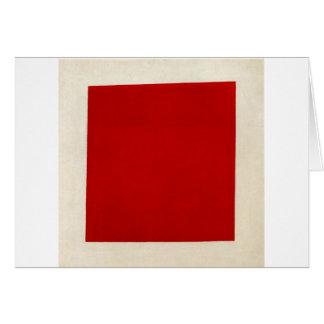 Rood vierkant door Kazimir Malevich Briefkaarten 0