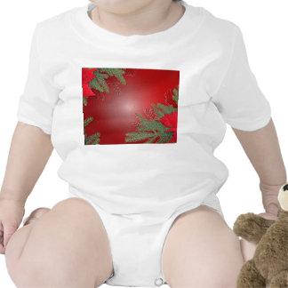 Rood VIII van de Poinsettia van Kerstmis Romper