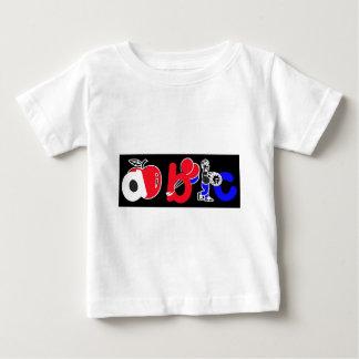 Rood, Wit, Blauw & Zwart, het Logo van het Alfabet T-shirt