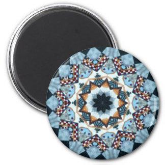 Rood, wit en blauw medaillon ronde magneet 5,7 cm