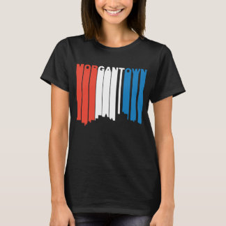 Rood Wit en Blauw Morgantown West-Virginia Skylin T Shirt
