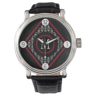 Rood & Wit Monogram met Aziatische Geïnspireerde Horloge