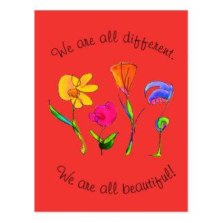 Rood zijn wij allen Verschillende & Mooie Briefkaart