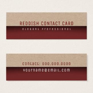 roodachtige minimalistische elegant en modern mini visitekaartjes