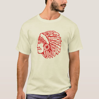 Roodhuid Rode Indiër T Shirt