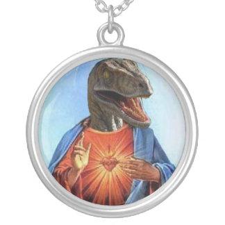 Roofvogel Jesus Zilver Vergulden Ketting
