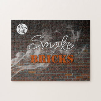 Rook op het Raadsel van Bakstenen Puzzel