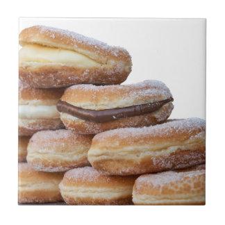 room en chocolade donuts keramisch tegeltje