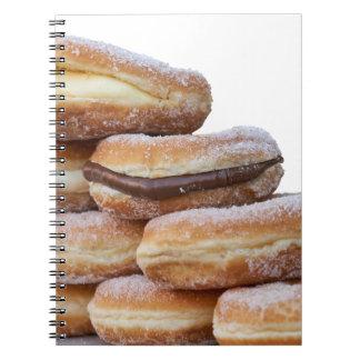 room en chocolade donuts ringband notitieboek