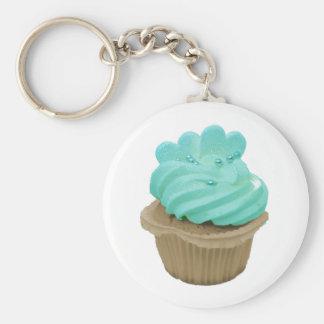 room en harten cupcake keychain basic ronde button sleutelhanger