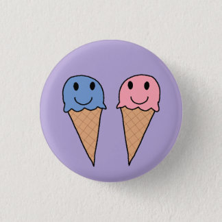 Roomijs 5 ronde button 3,2 cm