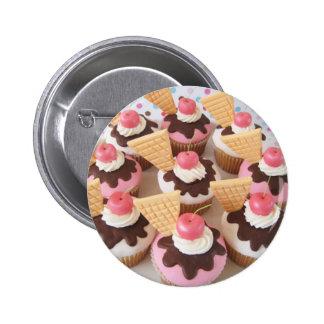 roomijs cupcakes ronde button 5,7 cm