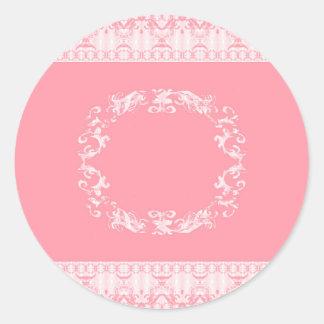 roos ronde sticker