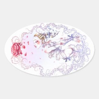 Roos van Versailles Ovale Sticker