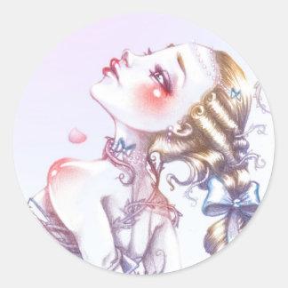 Roos van Versailles Ronde Sticker