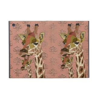 Rosa het Hoesje van Glitzy van Giraffen iPad iPad Mini Hoesje