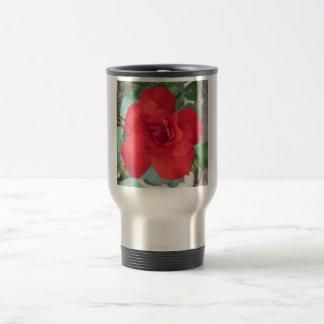 Rosa Roja Flor Reisbeker