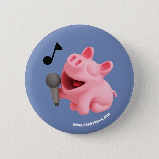 Rosa the Pig does Karaoke Ronde Button 5,7 Cm