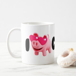 Rosa the Pig Love Coffee so much! Koffiemok