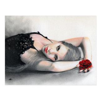 Rosa van Bella het rood van de Schoonheid nam Briefkaart