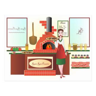 Rosa van Russo Pizzeria Briefkaart