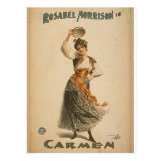 Rosabel Morrison, in Retro Theater van Briefkaart
