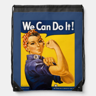 Rosie de Klinkhamer kunnen wij het doen! Retro Trekkoord Rugzakje