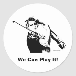 Rosie Fiddler Ronde Sticker