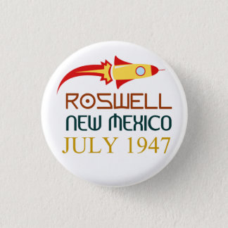 Roswell,New Mexico,july 1947 Ronde Button 3,2 Cm