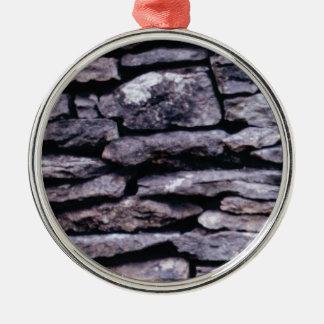 rots raadsel zilverkleurig rond ornament
