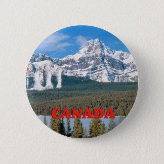 Rotsachtige Bergen Canada Ronde Button 5,7 Cm