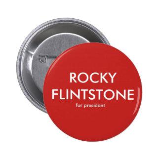Rotsachtige Flintdstone van de knoop van Belinda Ronde Button 5,7 Cm