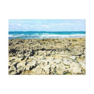 Rotsachtige Kusten van Hawaii~ door Jacqueline Canvas Print