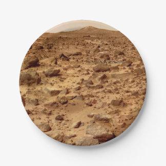 Rotsachtige Oppervlakte van Planeet Mars Papieren Bordje