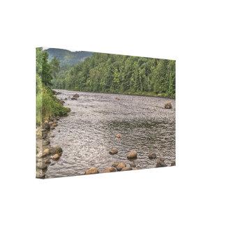 Rotsen in de Hudson RivierHudson Canvas Afdrukken