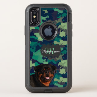 Rottweiler OtterBox Defender iPhone X Hoesje