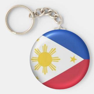 roundphilippineflag sleutelhanger