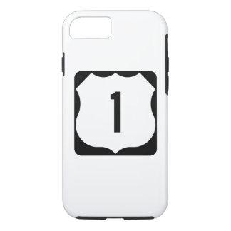 Route 1, xxxx, de V.S. van de staat iPhone 8/7 Hoesje
