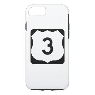 Route 3 van de V.S. Teken iPhone 8/7 Hoesje