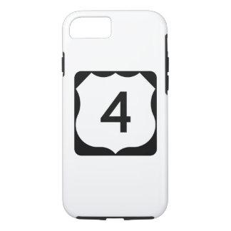 Route 4 van de V.S. Teken iPhone 8/7 Hoesje