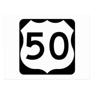Route 50 van de V.S. Teken Briefkaart