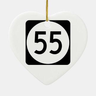 Route 55 van Kentucky Keramisch Hart Ornament
