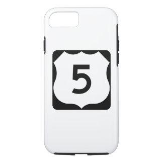 Route 5 van de V.S. Teken iPhone 8/7 Hoesje