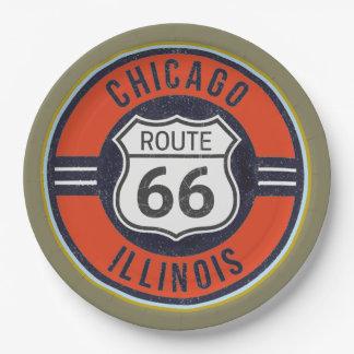ROUTE 66 CHICAGO - de Borden van het Document Papieren Bordjes