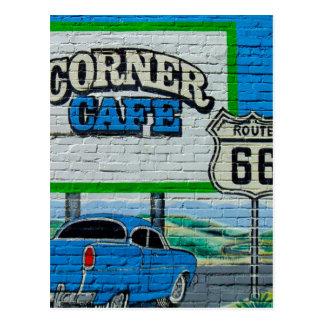 Route 66 de Muur van de Koffie van de Hoek Briefkaart