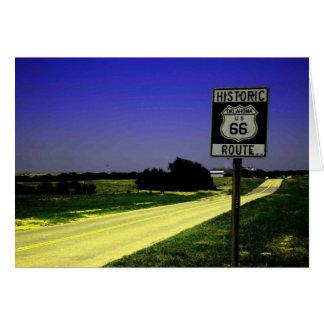 Route 66 het Wenskaart van het Einde van de Kant