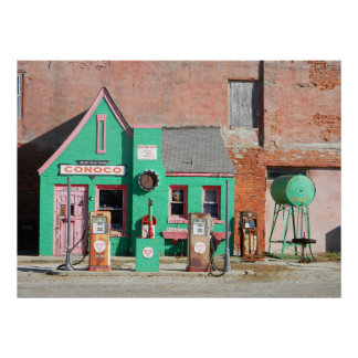 Route 66 Oude Post Conoco Poster