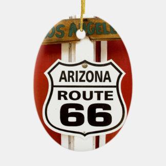 Route 66 Seligman Arizona de V.S. Keramisch Ovaal Ornament