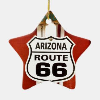 Route 66 Seligman Arizona de V.S. Keramisch Ster Ornament